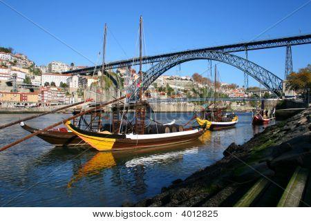 Brige Over The Douro River In Portugal