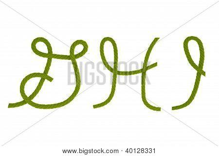 Green Fiber Rope G,h,i
