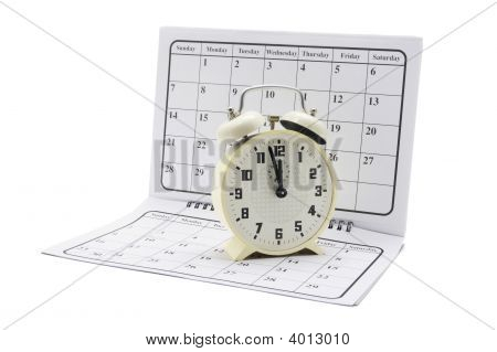 Alarm Clock On Calendar