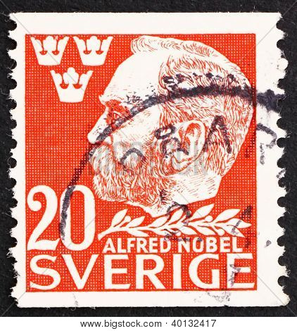 Postage Stamp Sweden 1946 Alfred Nobel, Inventor And Philanthrop
