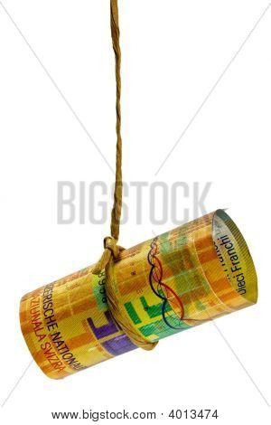 Dangling Swiss Franc