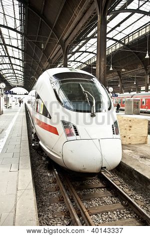 Highspeed Train In Station