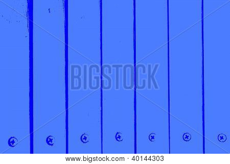 Blue Painted Boards