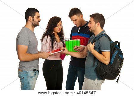 Vergadering groep studenten