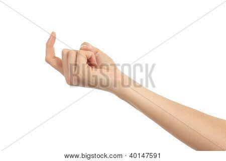 Mulher mão acenando