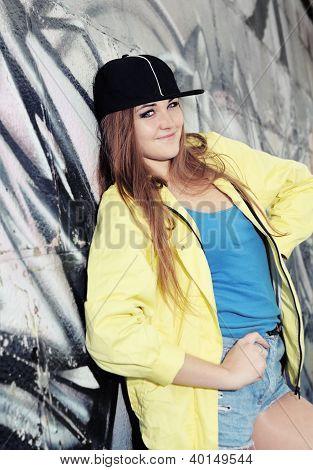 Young Urban Cheerful Teenage Girl