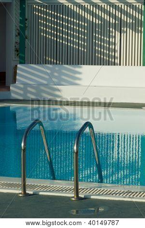 Private swimming pool in Santorini