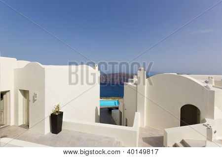 View of Santorini village of Oia