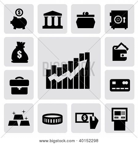 business financial icons