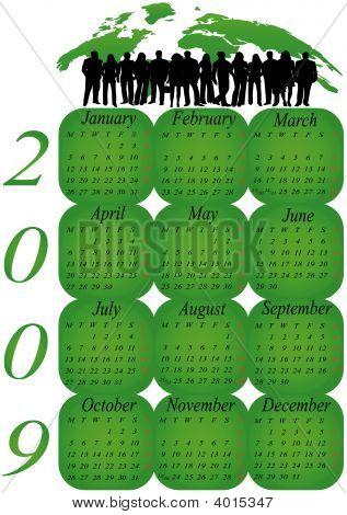 Calendario para el 2009. Año