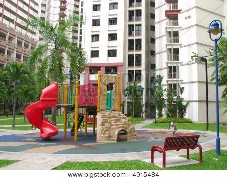 Hdb Flats And Playground