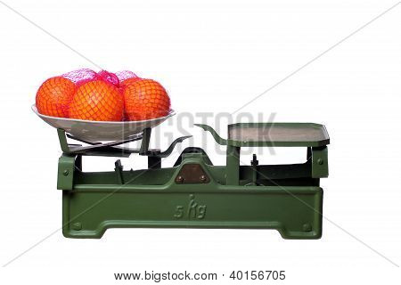 Oranges On Old Scale