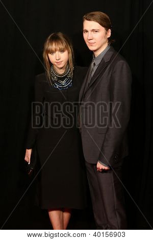 "NEW YORK-DEC 10: Actress Zoe Kazan and Paul Dano attend the premiere of ""Les Miserables"" at the Ziegfeld Theatre on December 10, 2012 in New York City."