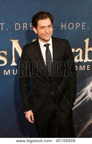 "NEW YORK-DEC 10: Peter Cincotti attends the premiere of ""Les Miserables"" at the Ziegfeld Theatre on December 10, 2012 in New York City."
