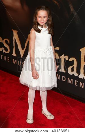 "NEW YORK-DEC 10: Actress Isabelle Allen attends the premiere of ""Les Miserables"" at the Ziegfeld Theatre on December 10, 2012 in New York City."