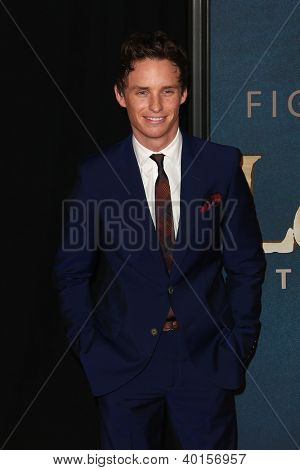 "NEW YORK-DEC 10: Actor Eddie Redmayne attends the premiere of ""Les Miserables"" at the Ziegfeld Theatre on December 10, 2012 in New York City."