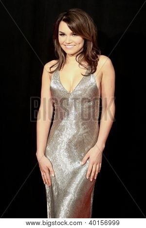 "NEW YORK-DEC 10: Actress Samantha Barks attends the premiere of ""Les Miserables"" at the Ziegfeld Theatre on December 10, 2012 in New York City."