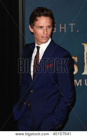 NEW YORK-DEC 10: Actor Eddie Redmayne attends the premiere of