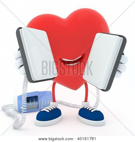 Heart With Defibrillator
