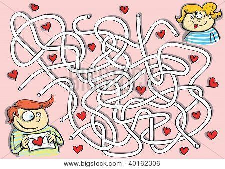 Valentine's Maze Game