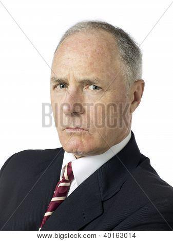 Portrait Shot Of A Old Businessman