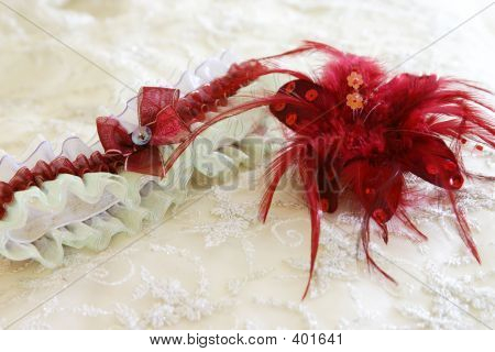 Garter And Feather Brooch