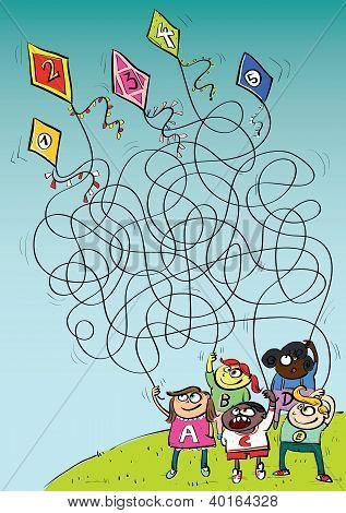 Kites Maze Game