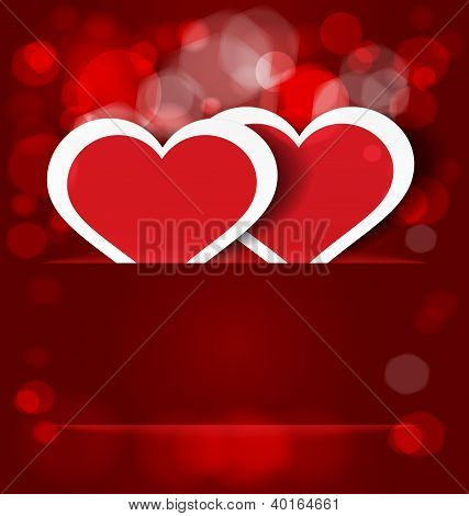 Sparkling Hearts Stickers Vector