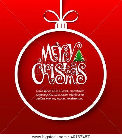 Vector illustration of christmas greeting card