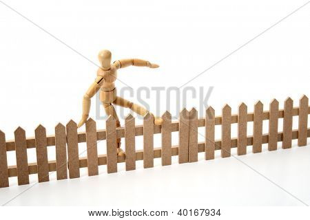 A dummy jumping the border.