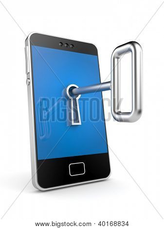 Mobile phone with key