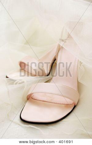 Pastel Pink Wedding Shoes