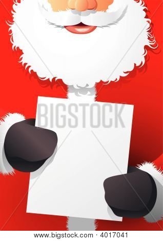 Santa Claus With Poster
