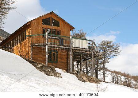 Wooden house at Tierra del fuego