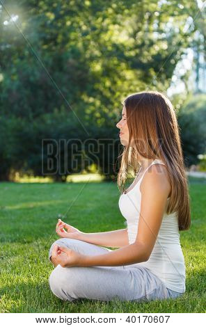 Attractive Young Woman Doing Yoga