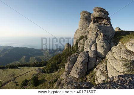 Beautiful Mountain Landscape In Crimea, Demergy Mountain