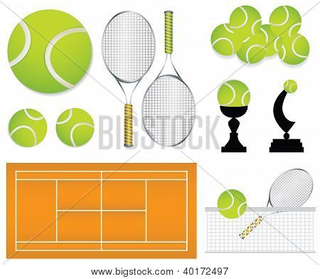 Tennis Sport Design Elements