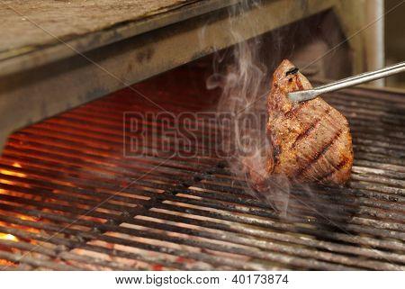 Diafragma de la ternera - churrasco - se fríen en parrilla