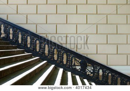 Pedestrian Ladder With A Shod Handrail