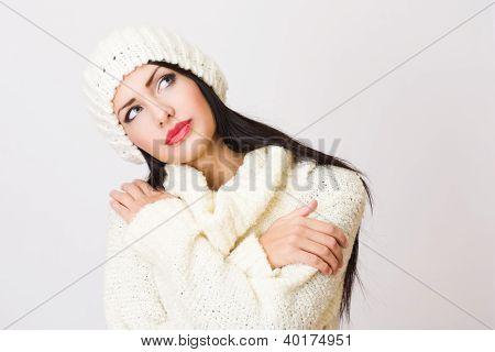 Junge Frau Wintermode