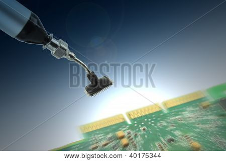 Holding an integrated circuit chip
