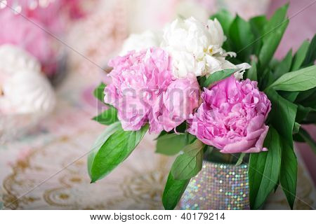 Peony in the Shabby Chic style