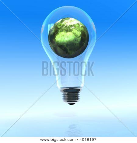 Light Bulb On The Sea