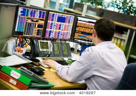 Man In Trading Office
