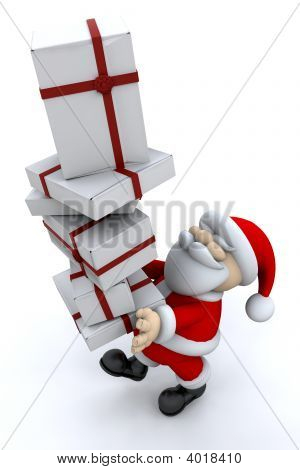 Santa Carrying Gifts