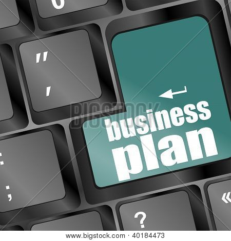 Business Plan Word Key On Computer Keyboard