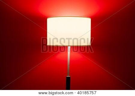 interior lamp on red