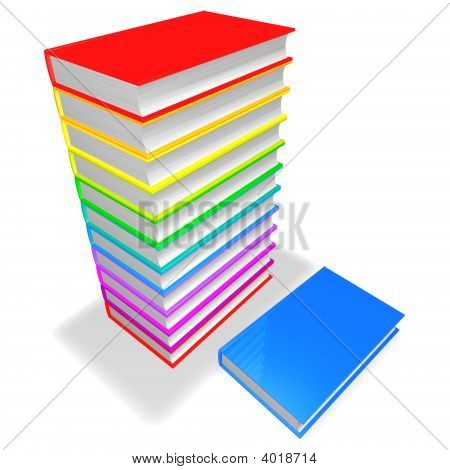 Colorful Books Pile