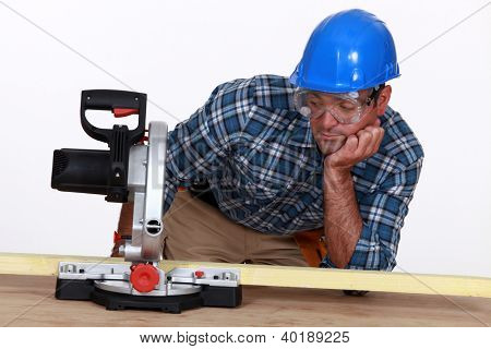 Man with a circular saw