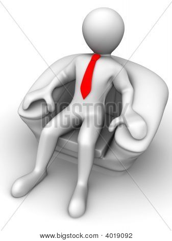 Men Is Seated In A Chair